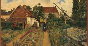 Henri_de_Braekeleer_-_Flower_growing_garden.tiff - By Henri de Braekeleer