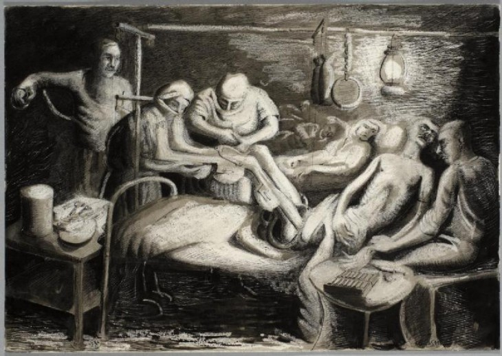 An_Emergency_Operation_in_a_Hospital_Ward,_Athens,_1941_Art.IWMARTLD3837